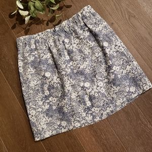 J. Crew Fully Lined Floral Mini Skirt Size 2